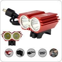 SolarStorm Red 5000LM X2 XM-L T6 Bicycle LED Headlight Waterproof + Rechargeable Battery + Charger