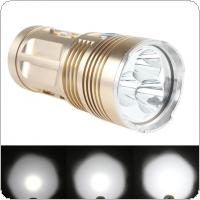 Waterproof 800 Lumens 3x XM-L T6 LEDs 4 Mode Outdoor LED Golden Flashlight High Power Flash Light Lamp