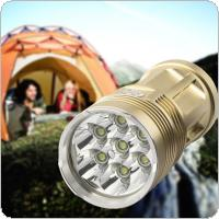 1600 Lumens 7 x Cree XM-L T6 LEDs Super Bright Flashlight with 4 Modes for Camping / Hunting / Outdoor