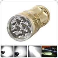 1600 Lumens 7 x XM-L T6 LEDs Super Bright Flashlight with 4 Modes for Camping / Hunting / Outdoor