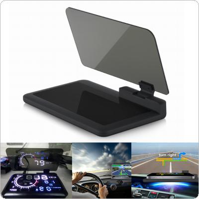 HD Reflection Smartphone Navigation Head Up Display Holder for 6 inch Phone & HUD