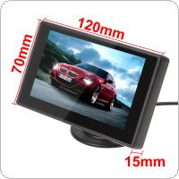 Car Rear View Camera Backup Parking with EU European License Plate Frame + 4.3 Inch LCD Monitor