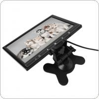 9 Inch 800 x 480 Car RGB Digital Display 2 Video Input Rear View VCR Monitor with Touch Button