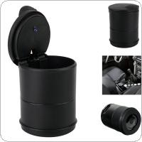 Black Portable Auto Car Truck LED Cigarette Smoke Cigar Car Ashtray Cylinder Cup Holder