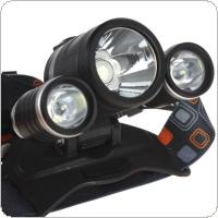 3 x XM-L2 U2-1A LED 2100LM Adjustable Round-head Headlamp Charging with DC / USB Interface & Power for Cellphone
