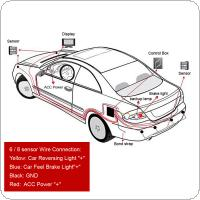 Waterproof 6 x Beep Alert Rear View Car Parking Sensors with Display Monitor & Dual CPU system