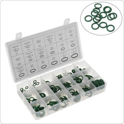 High Temperature 270PC Rubber O-ring Green Gasket Assortment Kit Seals Automotive Air Conditioning Refrigerant