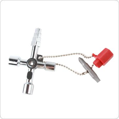 1 PC 4 Way Utility Plumbing Plumbers Tool For Meter Box Gas Water Electric Stop Cock Tap Radiators Cupboards Key