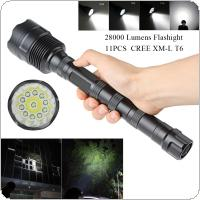 28000 Lumen 11x CREE XML T6 5 Mode Super Flashlight Torch Lamp Light for Camping / Hiking