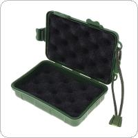 Universal Waterproof Anti Fall Green Plastic Storage Box for Flashlight Light Torch Lamp 13x8x3.5cm