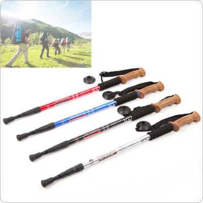 AOTU 3 Section Adjustable Telescopic Aluminum Alloy Hiking Walking Stick Trekking Pole Anti-shock Anti-skid Ultra-light Alpenstock