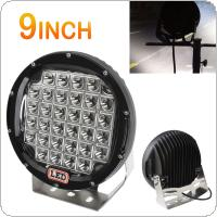 9inch  Rounded 160W 32x CREE LED Car Worklight Spot / Flood Light Vehicle Driving Lights for Offroad SUV / ATV / Truck / Boat