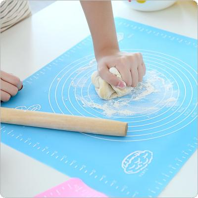 50x40cm Silicone Rolling Fondant Mat  Baking Cake Dough Kneading Scale Cooking Plate Table Grill Pad Tools