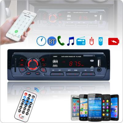 12V 1 DIN In Dash Bluetooth Car Stereo FM Radio MP3 Audio Player Aux Input Receiver SD USB MP3 Radio