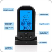 Wireless Remote Instant Read Digital LCD Cooking Food Kitchen Probe Thermometer Meat BBQ Timer Alarm Clock