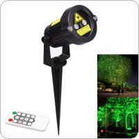 Outdoor Waterproof Green & Red Garden Tree Laser landscape Projector with 10 Feet Cable Christmas Lights Star