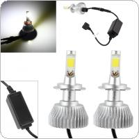 2pcs 30W 2200LM H7 CREE LED Light Headlight Vehicle Car Hi/Lo Beam Bulb Kit 6000k White