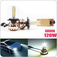 2x H4 120W LED Fog Light Bulb Headlight Kit 12000LM 6000K Auto Birne Lampe Licht