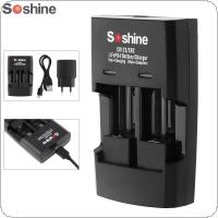 Soshine Li-FePO4 RCR 123 / CR2 Battery Intelligent Rapid Charger
