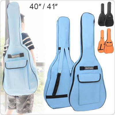 "40"" / 41"" Portable Oxford Fabric Acoustic Guitar Double Straps Padded Guitar Soft Case Gig Bag Waterproof Backpack"