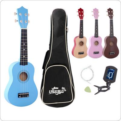 "21"" Ukulele Beginners Children Christmas Gifts Hawaii Four String Guitar + Bag + Tuner + String + Pick"