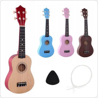 "21"" Ukulele Beginners Children Christmas Gifts Hawaii Four String Guitar +String+Pick"