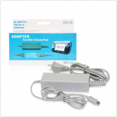 AC Supply US Plug Power Adapter Charger Cord Cable for Nintendo WiiU Controller