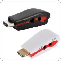 HDMI to VGA Adapter with Audio Cable Power Male To Female 1080p HDMI to VGA Converter For PC/TV/for Xbox 360 for PS3