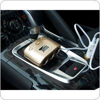 3 Way 2 USB Power Converter Car Adapter Cigarette Lighter Socket Splitter
