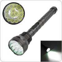 9000Lm 15 x XM-L T6 LED 5 Light Modes Waterproof Super Bright Flashlight with 1200m Lighting Distance