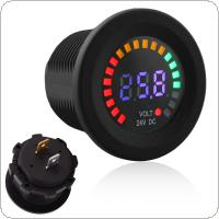 30MM 24V 5~30V Universal LED Electrical Car Volt Voltage Gauge Meter with Voltage Sensor for Car Auto Motorcycle