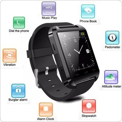 U8 Plus Wireless Bluetooth Smart Watch Compatible with iPhone / with Samsung / with HTC / with LG / with Sony / with Lenovo / with Huawei / with Xiaomi