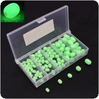 100pcs Oval Soft Plastic Luminous Glow Fishing Beads Sea Fishing Lure Float Tackles Tools Eggs for Rig