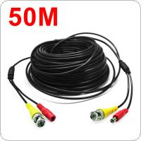 166Feet/50M BNC RCA Audio Video Power Extension Cable DVR Surveillance Wire for CCTV Security Camera