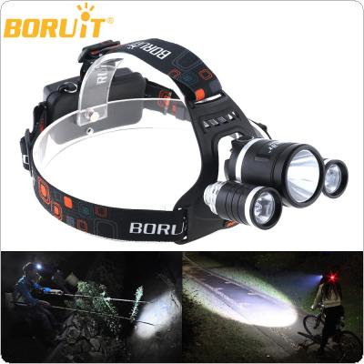 JR-3001 1400LM 1X  XM-L T6 LED & 2 X XP-G R5 LED Super Bright Rechargeable Headlamp with 4 Modes