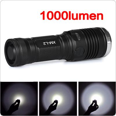 SKYWOLFEYE L207 Waterproof 1000LM L2 T6 LED Light 4 Modes Zoomable Flash Torch Lamp