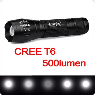 SKYWOLFEYE T90 Waterproof 500LM T6 LED Light 5 Modes Zoomable Flash Torch Lamp