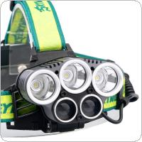 SKYWOLFEYE F526 Headlamp 1500Lm 3x T6 + 2x XPE 3 LED Rechargeable Headlight Torch