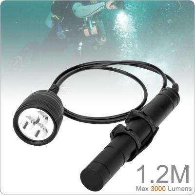 Brinyte Waterproof High Power Underwater 150m 3000lm Magnetic Switch 3x XM-L2 LED Diving Flashlight Torch Lanterna Lamp