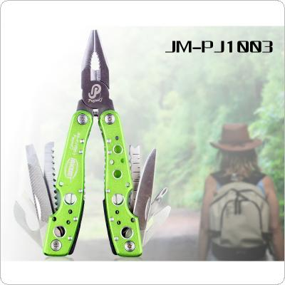 JAKEMY JM-PJ1003 9-in-1 Multifunction Folding Knife Kit of the Outdoor  Suitable for Army Survival / Camping