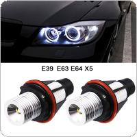 2pcs 1000LM Angel Eyes Car LED Halo Ring Marker Bulbs Light 5W 6000K White for BMW X5 E39 E53 E60 E63 E64