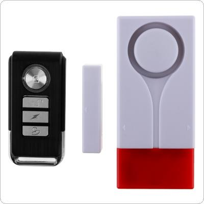 Wireless Light + Sound Vibration Alarm Magnet and Vibration Sensor Remote Control Door Window Detector Home Security Alarm