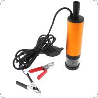 DC 12V 38MM Portable Aluminium Alloy Car Electric Submersible Pump Fuel Water Oil Barrel Pump with 2 Alligator Clips