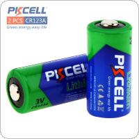 2pcs/set  Pkcell 1500mAh 3V CR123A Non-rechargeable Battery for Cameras / Keyless car remote