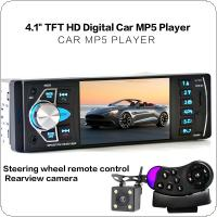 4.1 Inch 1 Din HD Car Stereo Radio Bluetooth MP3 MP5 Player Support USB / FM / TF / AUX with Rearview Camera