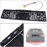 Automatic Parking  EU Car License Plate Frame Rear View Camera HD Night Vision Reverse Rear View Camera with 4 IR Light