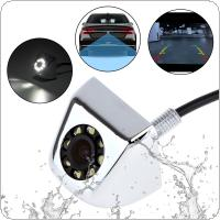 Waterproof Car Rear View Camera 170 Degree Night Vision Parking Reversing Assistance Wide Angle with 8 LED