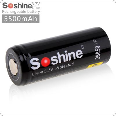 Soshine 3.7V 5500mAh 26650 Li-ion Rechargeable Battery with Protected PCB for LED Flashlights / Headlamps