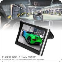 5 Inch Car TFT LCD Monitor  800*480 16:9 Screen 2 Way Video Input For Rear View Backup Reverse Camera DVD VCD