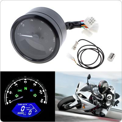 12000RPM  LED Backlight Signal Light  Tachometer Speedometer Odometer for Motorcycle Scooter Golf Carts ATV